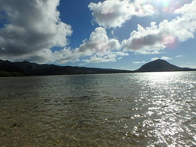 クリオウオウビーチから見えるココヘッド