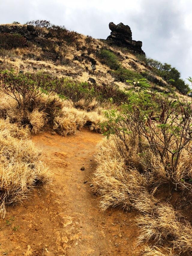 ペレの椅子への登り道
